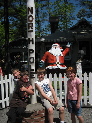 The North Pole at Knoebels Amusement Park is made of solid ice, even on the hottest summer day