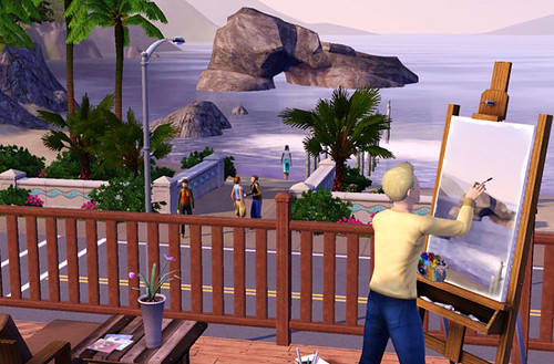 The Sims 3 - Artist by super_cool_name_here.