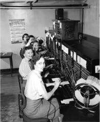Telephone operators, 1952 by Seattle Municipal Archives