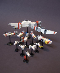 Kassarian Ship Group (gIadius) Tags: lego space micro homeworld fleet spacecraft hyperspace msw microspace frigates capitalship microscale strikegroup foitsop strikecraft
