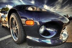 viper lust (mudpig) Tags: reflection car sport speed geotagged newjersey highway automobile angle parking wide nj lot sigma run poker area dodge service turnpike 95 viper hdr digest i95 thomasedison mudpig stevekelley