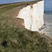 Cliffs reach heights over 500 feet
