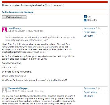 Guardian blog comments