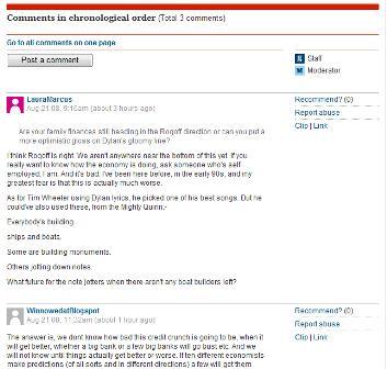 Guardian blog comments