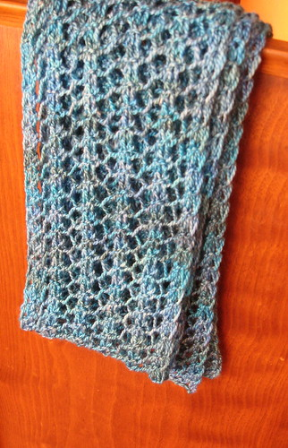 Knitting Pattern For Yarn Over Scarf : Ravelry: One Row Lace Scarf pattern by Turvid