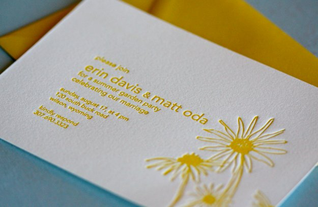 Davis Letterpress Invitation