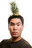 i am the pineapple king (poopoorama) Tags: selfportrait me nikon sigma pineapple danny year2 day162 d300 365days strobist 1850mmf28exmacrohsm