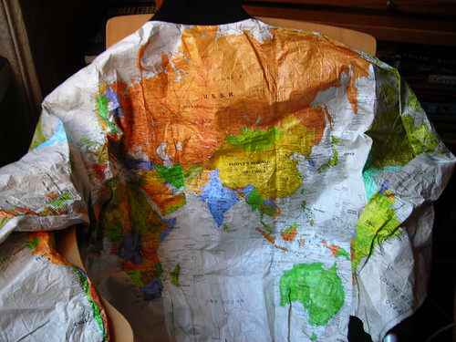 map of the world jacket
