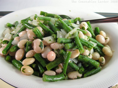 shell beans plated