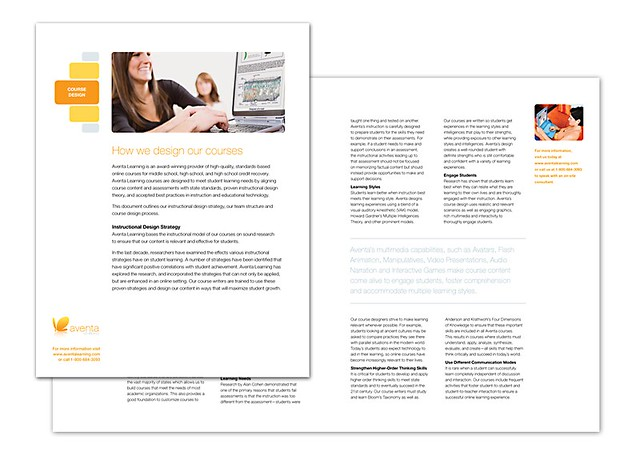 Aventa Learning Collateral by tenfour archive