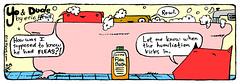 """flea bath"" - a Yo & Dude™ comic by eric Hews © 2008 (eric Hews) Tags: dog cats cute dogs illustration cat puppy fun virginia puppies bath kitten funny eric artist comic drawing web yo humor cartoon emo creative kitty free kittens richmond dude writer comicstrip mean illustrator haha toon flea simple humiliation hews yodude erichewscom yoanddude ©2008erichews yodude™ ennuizle"