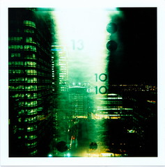 No.10 (Matt Brown esq) Tags: green london film mediumformat square holga lomo xpro lomography crossprocessed accident 10 toycamera slide number ten damage mistake tear numeral canarywharf e6 plasticlens
