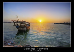 Looking Forward [HDR] (Hussain Shah.) Tags: sunset port d50 boat nikon looking sigma kuwait 1020mm hdr forward doha shah hussain