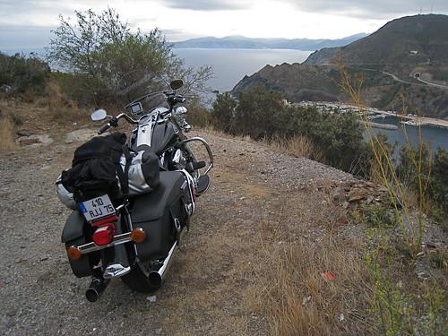 Route de montagne dans les pyrénées orientales