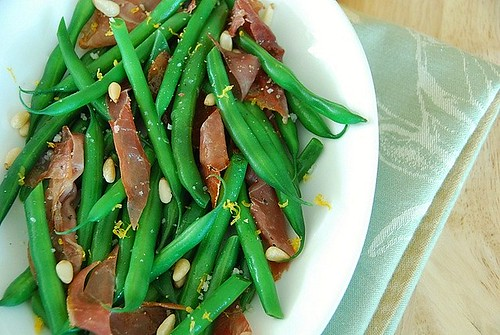 Green beans with proscuitto, pinenuts, and Meyer lemon