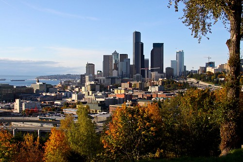 Seattle skyline from Beacon Hill, 2008. Photo by Bridget C -- thanks, Bridget!