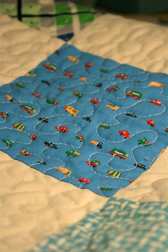 Baby Boy Quilt Close up