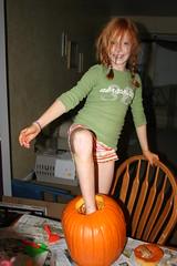 Maddie's Pumpkin Foot