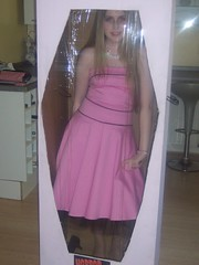Me in my Barbie box (Elysia in Wonderland) Tags: pink halloween shoe necklace costume outfit doll box barbie makeup plastic horror elysia cellophane