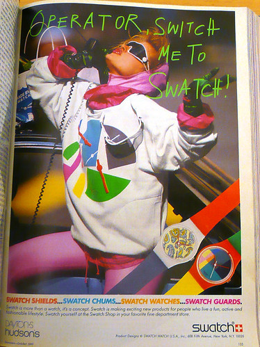 Operator, Switch Me To Swatch August 1985 by LauraMoncur from Flickr