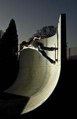 (AlexJohnston) Tags: park new uk england st vertical wall turn concrete nikon cornwall gun open ride nathan kick board flash pipe vert skate vivitar external quater 285 austell d40 gathercole