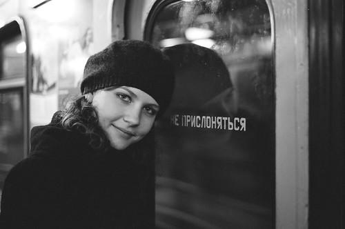 Nadya in metro
