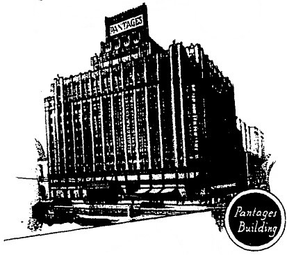 Pantages Theatre, original 12-story plan
