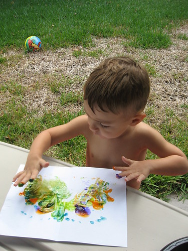 Finger Painting!