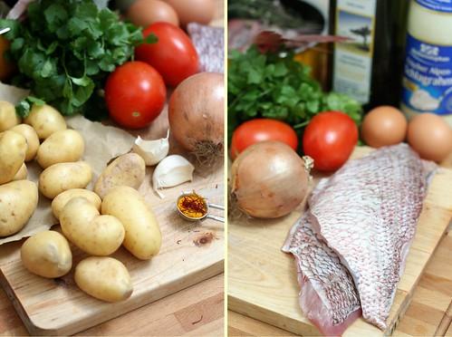 Petites patates &filets de pagre