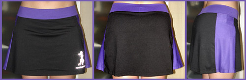 running skirt black / purple