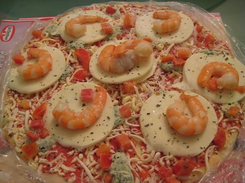 Shrimp on Pizza