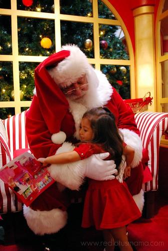 Santa hug