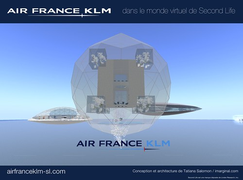 Air France-KLM in Second Life : An island in the sky