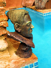PM018820 (FotoManiacNYC) Tags: blue sculpture brick art water pool architecture stairs garden nude hotel design hand oldsanjuan puertorico body antique interior rustic steps patio made swimmingpool interiordesign boutiquehotel thegalleryinn