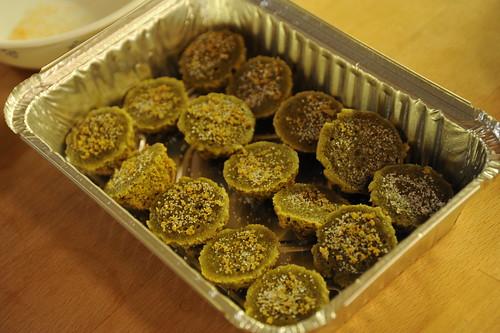 緑茶味の鈴カステラ