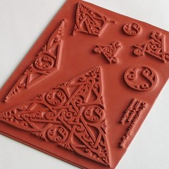 Celtic Knotwork Triangle Small Set (inklings and imprints) Tags: set uncut triangle stamps rubber stamp stamping celtic sets knotwork triskele unmounted triskeles deepetch inkandescence inklingsandimprints celtictriangleset celtictriangleclingset umceltictriangleset