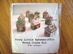 Funky Little House Kit (HA! Designs - Artbyheather) Tags: wood house fun little funky charm ephemera stamp tiny kit hadesigns artbyheather