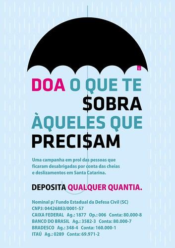 Ajude Santa Catarina - Arte - Rodrigo Muller