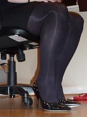 P1000062 (Mrs Gruber) Tags: black sexy stockings lady shoes erotic highheels legs bbw arse tights wife upskirt heels opaque stiletto milf pantyhose nylon garters stillettos