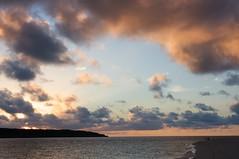 前浜の夕焼け