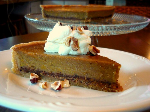 Hazelnut Spiced Pumpkin Pie