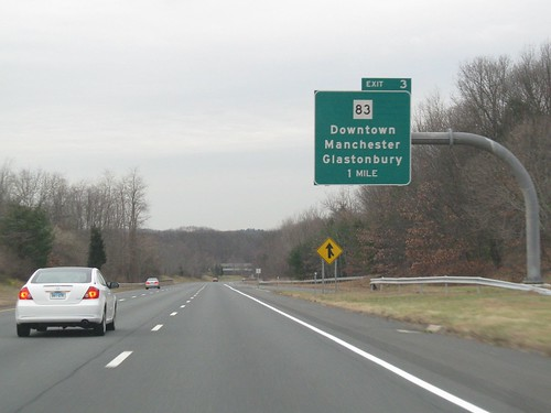 New Exit 3 sign for I-384 westbound by you.