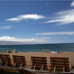 Front row beach chairs outside of the Ka'anapali Ali'i