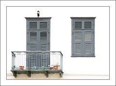 Balcony (haberlea) Tags: door white building window architecture grey balcony greece whitebackground onwhite nafplio