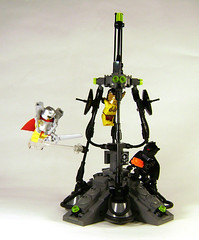 There can be only one... (DARKspawn) Tags: lego space jet pack dio rocket blackknight vignette diorama classicspace bignette