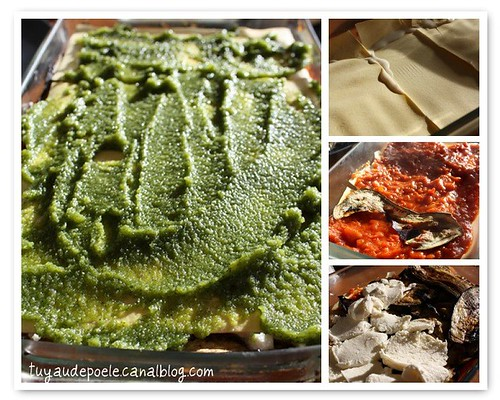 Making of Veggie Lasagna