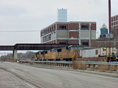 Westbound Union Pacific intermodal train. Chicago Illinois. January 2007.