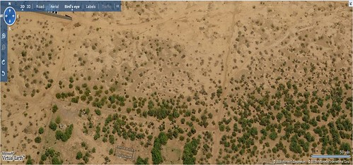 satellite view of Mesa (AZ) Proving Grounds (by: MS Virtual Earth)