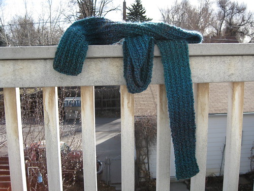 Blue Scrunchable Scarf Finished 1
