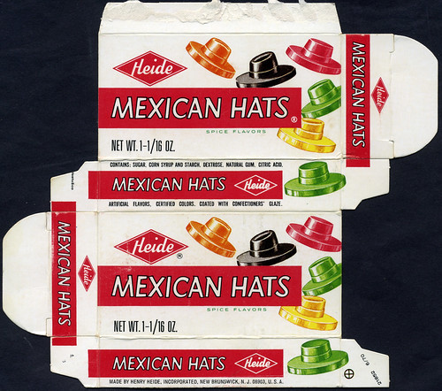 Heide - Mexican Hats candy box - 1970